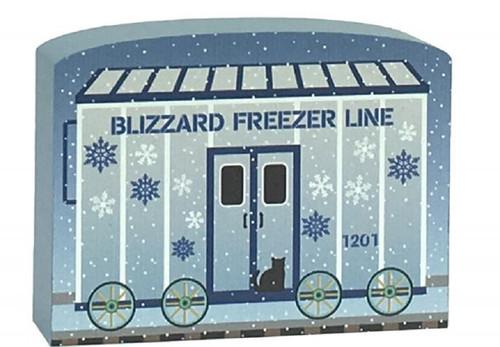 Cat's Meow Village Train Set Car Blizzard Freeze Line #17-627