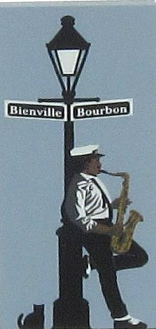 Cat's Meow Village NOLA Bourbon Street Site Keepsake