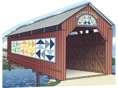 Cat's Meow Village Covered Bridge Flying Geese 17-512