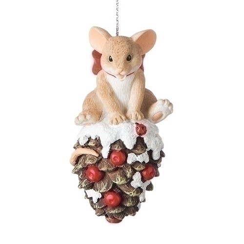 "Charming Tails Ornament - ""Have a Berry Pine Time this Holiday"""