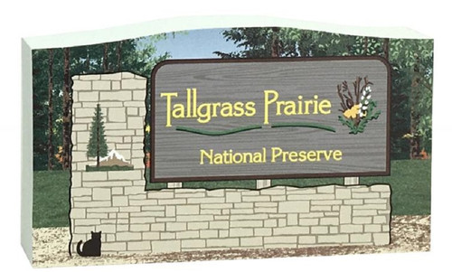 Cat's Meow Village Tallgrass Prairie National Preserve Sign RA1414