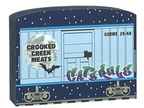 Cat's Meow Village Buzzard Express Train Crooked Creek Meats Car #16-634