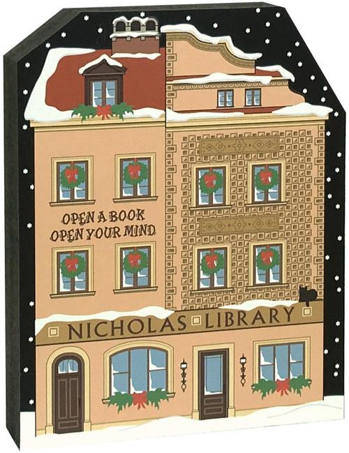 Cat's Meow Village North Pole Nicholas Library 18-932