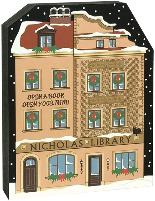 Cat's Meow Village North Pole Nicholas Library 18-932