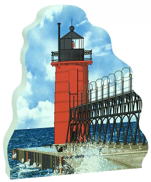 Cat's Meow Village Shelf-sitter Keepsake, South Haven Pierhead Lighthouse 18-727