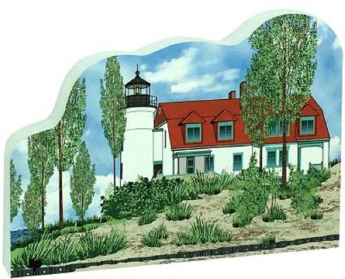 Cat's Meow Village Shelf-sitter Keepsake Point Betsie Lighthouse Frantfort Michigan 18-726