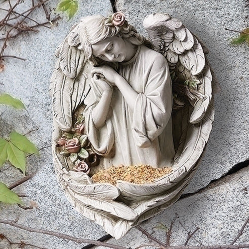 "14"" H Angel Bird Feeder Plaque"