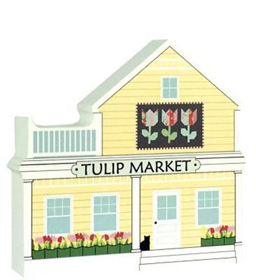 Tulip Quilt Market - Cat's Meow Village Keepsake #19-511