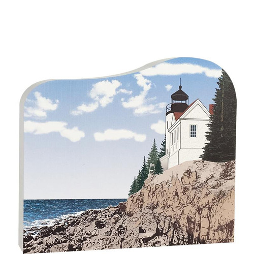 Cat's Meow Village Shelf-sitter Keepsake Bass Harbor Head Light Station, Acadia Natl Park, ME