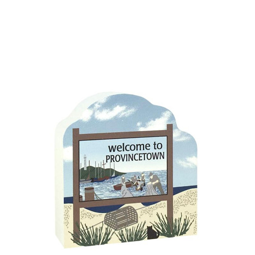 Cat's Meow Village Welcome to Provincetown Sign, 2794