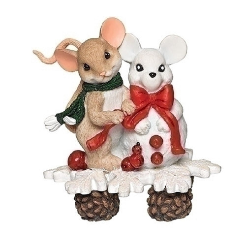 Charming Tails - Snow-Mouse Car #132106