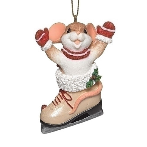 "Charming Tails Ornament - ""Skating my way to you""  #132097"