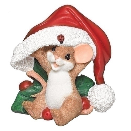 Charming Tails Mouse in Santa Hat Christmas #132103
