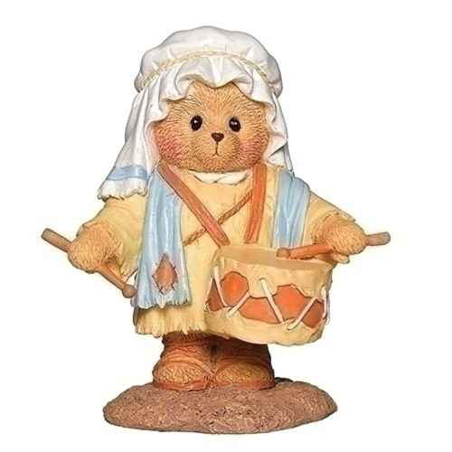 Cherished Teddies 2019 Nativity Figure Drummer Boy #132857