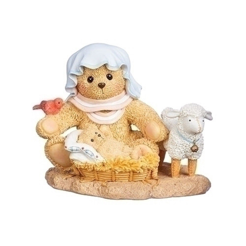 Cherished Teddies 2019 Nativity Figure Mary Jesus Bear #132858