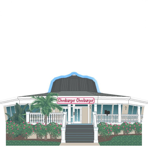 Cat's Meow Village Cheeburger Cheeburger Restaurant Sanibel Island Florida #R1367