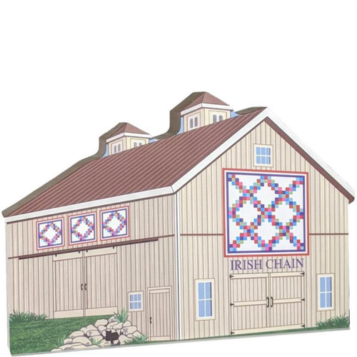 Cat's Meow Village  Irish Chain Quilt Barn #20-511