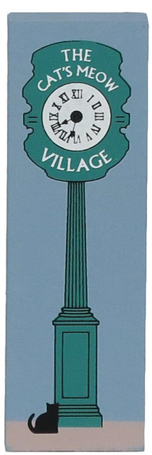 Cat's Meow Village Keepsake Village Street Clock Green #07-115 NEW