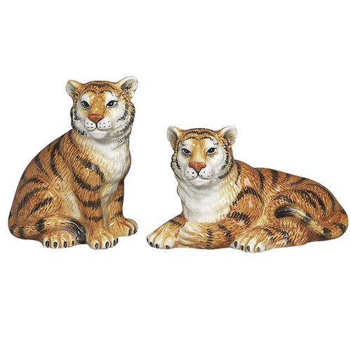 Sadek Tiger figural Salt & Pepper Shakers