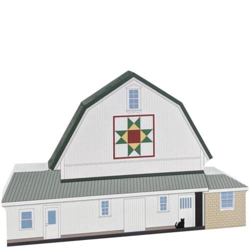 Fisher's Ohio Star Quilt Barn Wooden Shelf Sitter