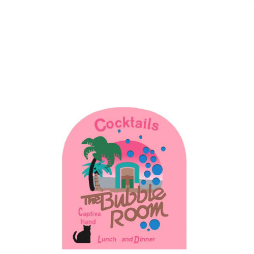 Bubble Room Sign, Captiva, Florida Collectible