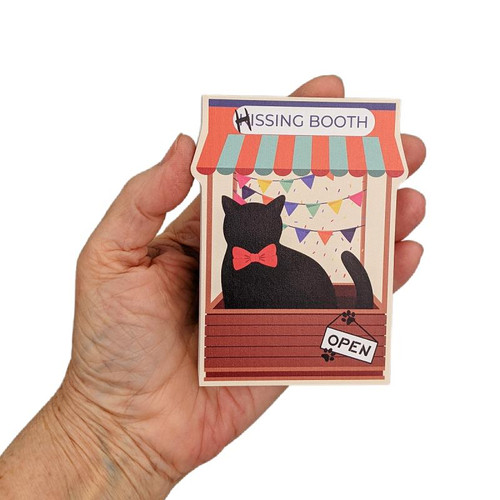 Cat's Meow Village Hissing/Kissing Booth - Casper Cat #21-972