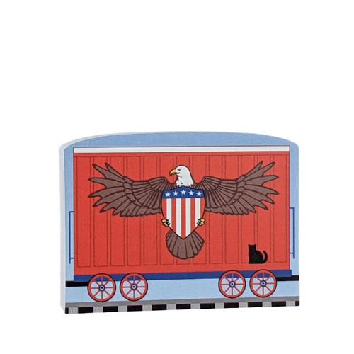 Cat's Meow Village Pride of America Patriot Train American Eagle #21-425