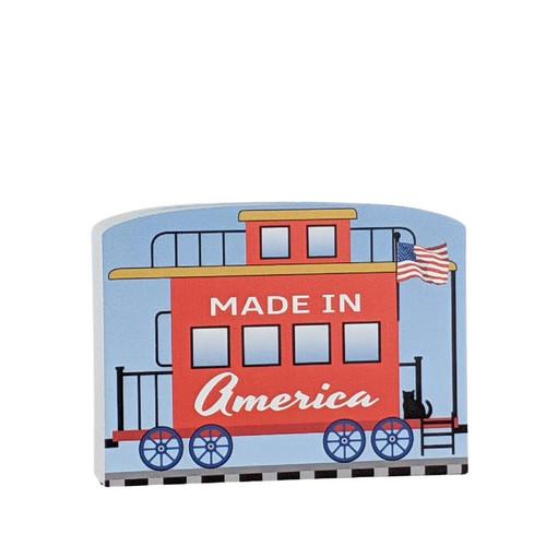 Cat's Meow Village Pride of America Patriot Train Made in America Caboose #21-428