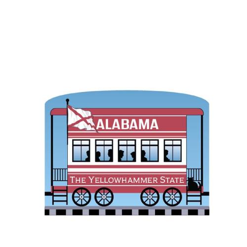 Cat's Meow Village Pride of America Patriot Train Alabama State Car #21-426AL