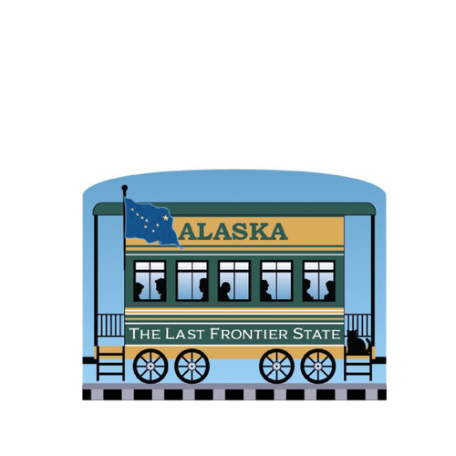 Cat's Meow Village Pride of America Patriot Train Alaska State Car #21-426AK