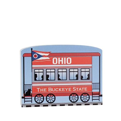 Cat's Meow Village Pride of America Patriot Train Ohio State Car #21-426OH
