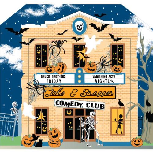 Cat's Meow Village Halloween Joke and Braggers Comedy Club #21-631