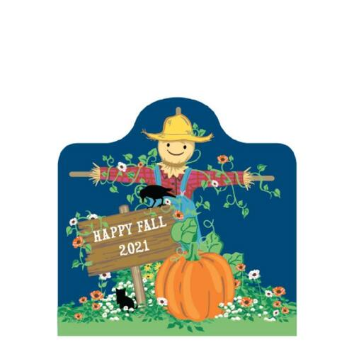 Cat's Meow Village Halloween Limited Fall Vincent Van Crow Scarecrow #21-F974