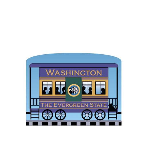 Cat's Meow Village Pride America Patriot Train Washington State Car 21-426WA