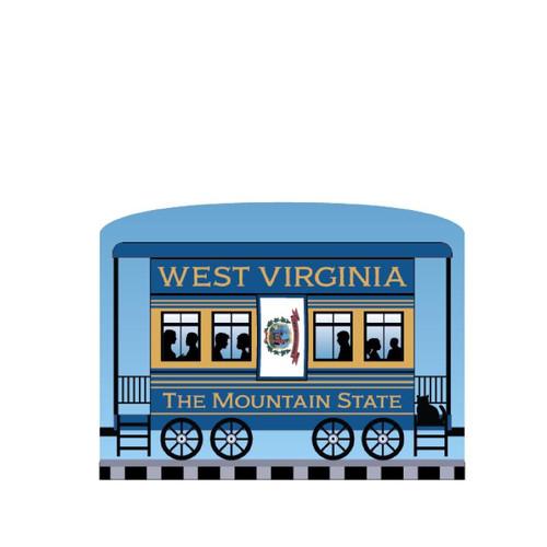 Cat's Meow Village Pride America Patriot Train West Virginia State Car 21-426WV