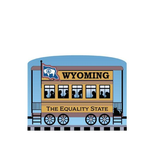 Cat's Meow Village Pride America Patriot Train Wyoming State Car 21-426WY