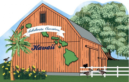 Cat's Meow Village American State Barn Hawaii #RA1159-R NEW *SHIPPING DISCOUNTS