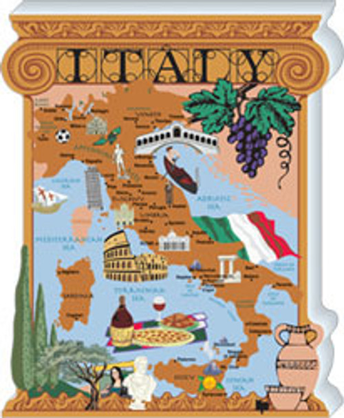 Cat's Meow Map of Italy