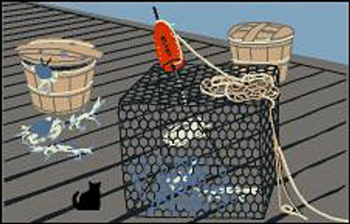 Cat's Meow Village Crab Pot & Baskets
