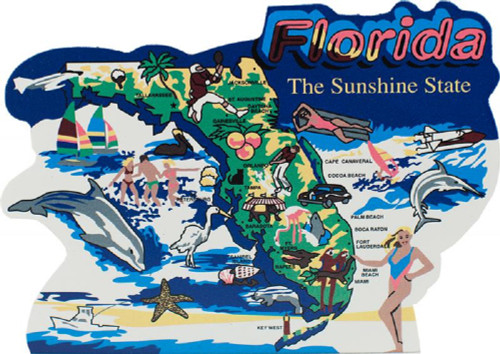 United States Map, Florida Sunshine State