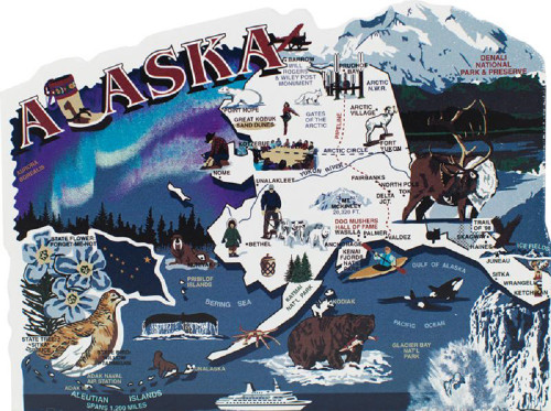 United States Map, Alaska The Last Frontier State