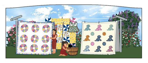 Cat's Meow Village Candabean At Grandma's House Quilts of Joy