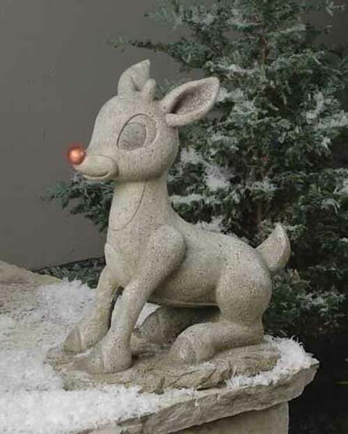 Roman Lights Solar Rudolph Red-Nosed Reindeer
