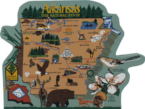 United States Map, Arkansas Natural State