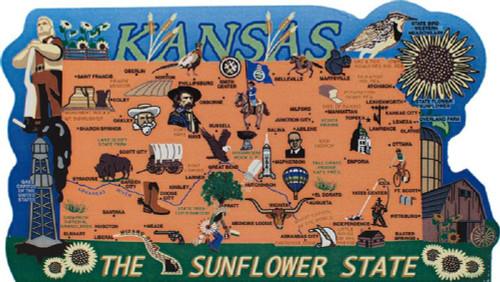 United States Map, Kansas Sunflower State