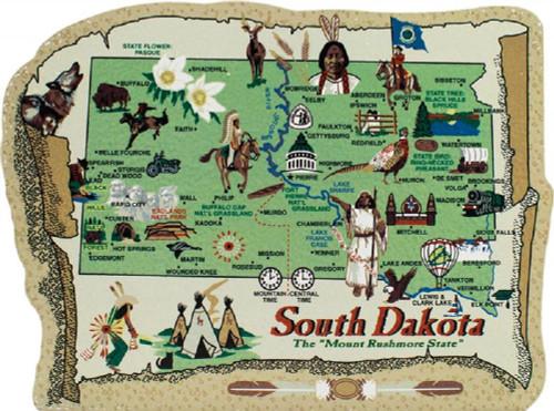 United States Map, South Dakota Mount Rushmore State