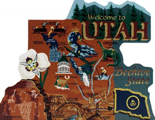United States Map, Utah Beehive State