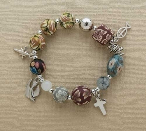 HIS Story, Jesus Story stretch Charm Bracelet