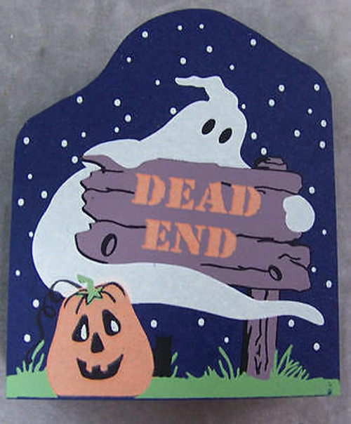 Cat's Meow Halloween Sign Dead End Ghosts Pumpkins #07-635