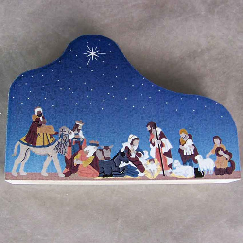 """Cat's Meow Village Christmas Nativity NEW 2010 """"For to us a Child is Born"""""""